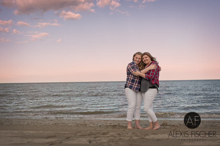 Sibling Creative Photography At Luna Pier Beach Toledo Oh Family Photographer